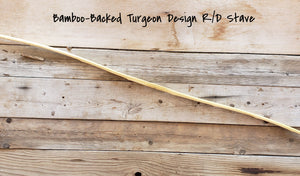 Bamboo Backed Bow Stave, Turgeon Design, R/D Limbs