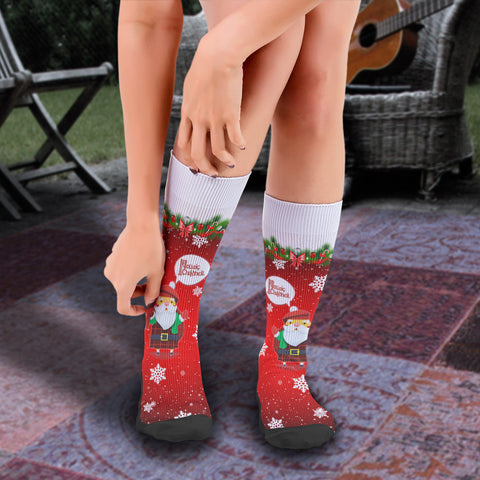 Scottish Christmas Santa Crew Socks