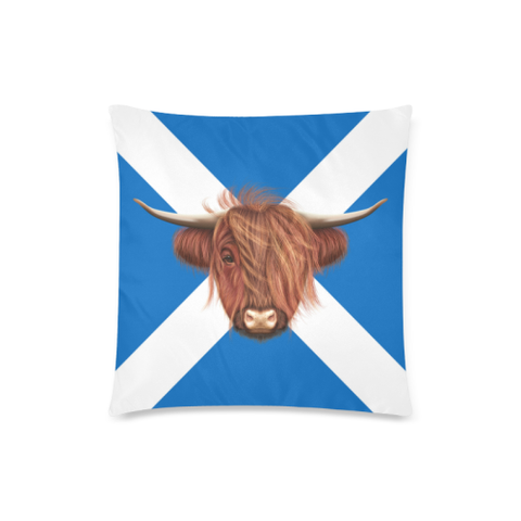 Image of Highland Cow - Scotland Pillow Cushions Cover | Special Custom Design