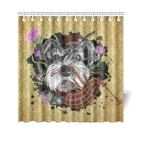 Scotland Shower Curtain - Scottish Terrier And Thistle Vintage | Love The World
