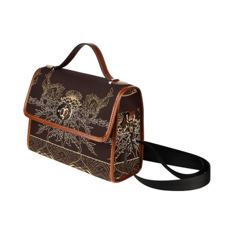 Thistle Pattern - Waterproof Canvas Bag | Special Custom Design