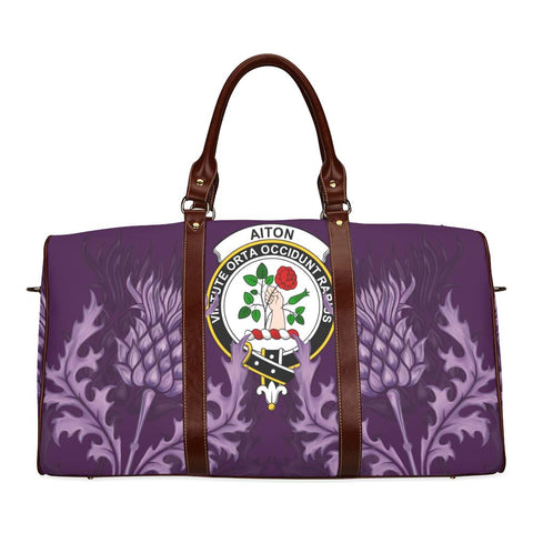 Image of Aiton Crest Scottish Thistle Scotland Travel Bag A7