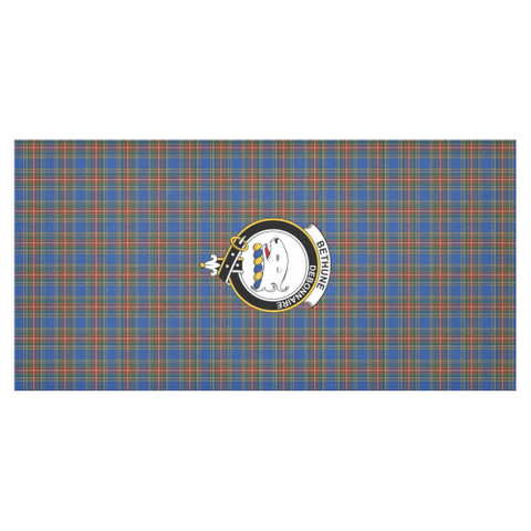 Image of Bethune Crest Tartan Tablecloth | Home Decor