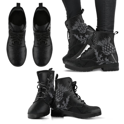 Image of Scottish Thistle Dark Edition - Scotland Leather Boots | Scotland Footwear