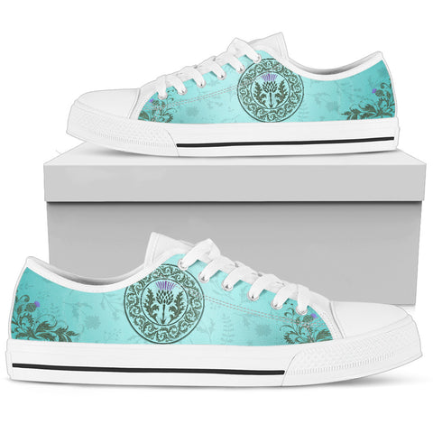 Green Thistle - Low Top Canvas Shoes | Special Custom Design