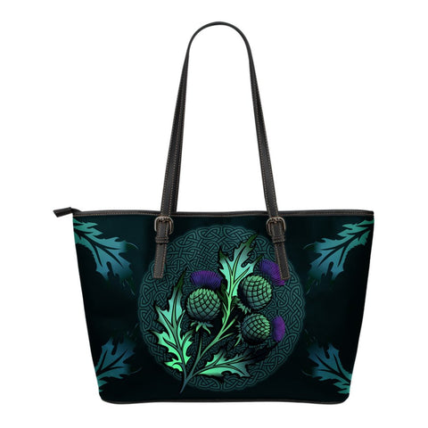 Beautiful Thistle and Celtic - Scotland Leather Tote BagBeautiful Thistle and Celtic - Scotland Leather Tote Bag | Love Scotland