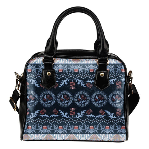 Scottish Thistle Pattern - Shoulder Handbag | Special Custom Design