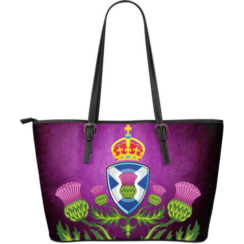 Thistle Shield Leather Tote Bag (Large) | Hot Sale