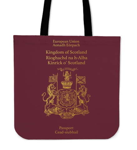 Scotland Passport - Tote Bag | Special Custom Design