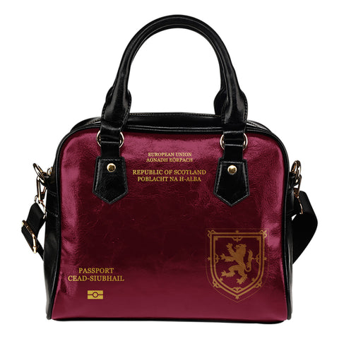 Scotland Lion Passport - Scotland Shoulder Handbag | Special Custom Design