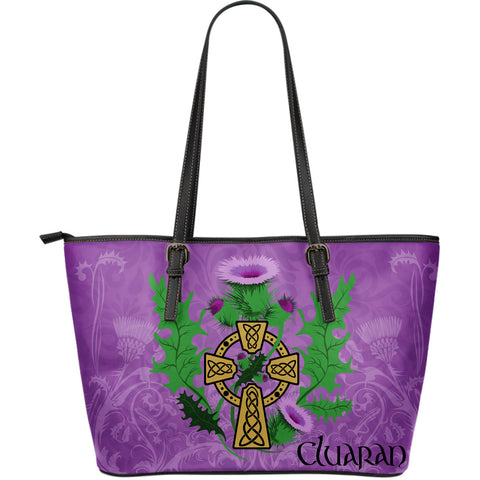 Image of Thistle Cluaran Leather Tote Bag (Large Size/ 3 Colors) | Hot Sale