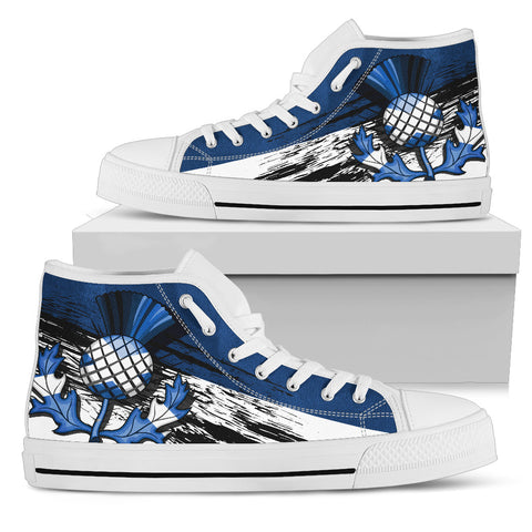 Scottish Thistle Blue Edition High Top Shoes