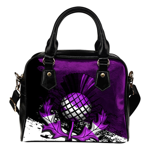 Scottish Thistle Purple Edition Shoulder Handbag