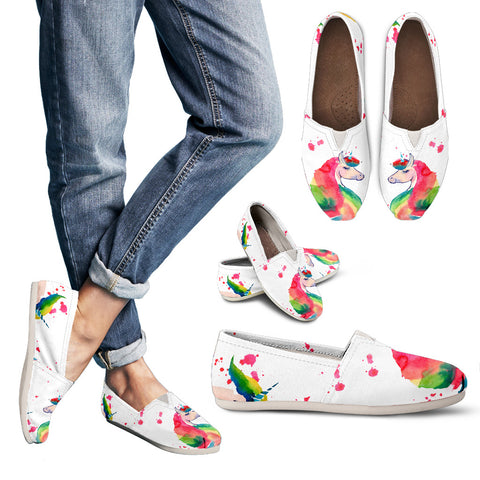 Image of Unicorn Color - Scotland Women's Casual Shoes | Special Custom Design