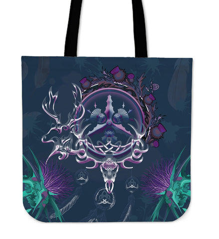 Scottish Thistle Tote Bag - Scottish Red Deer Celtic Dream Catcher A18