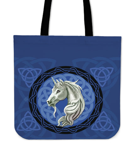 Unicorn Celtic Blue - Scotland Tote Bags | HOT Sale
