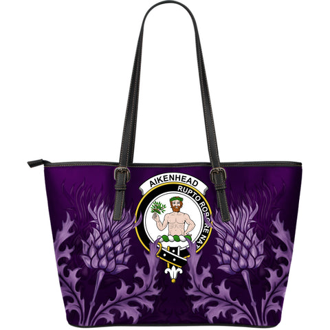 Aikenhead Leather Tote Bag - Scottish Thistle (Large Size) A7
