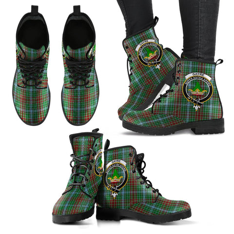 Gayre Tartan Clan Badge Leather Boots A9