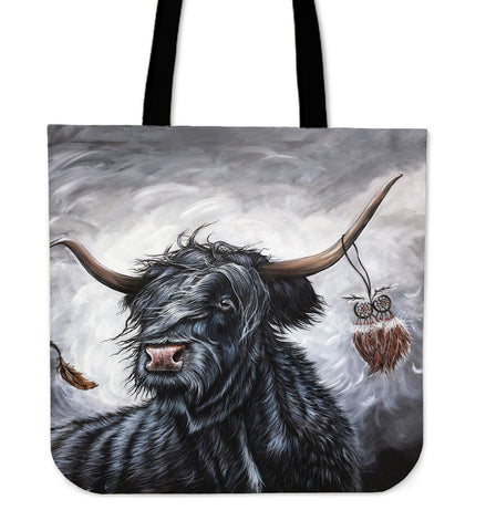 Image of Cattle Highland Cow 01 - Tote Bag | Special Custom Design