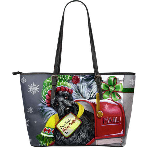 Christmas Scottie Letter For Santa - Leather Tote Bag | HOT SALE