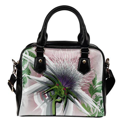 Image of Scottish Beautiful Thistle Shoulder Handbag | Special Custom Design