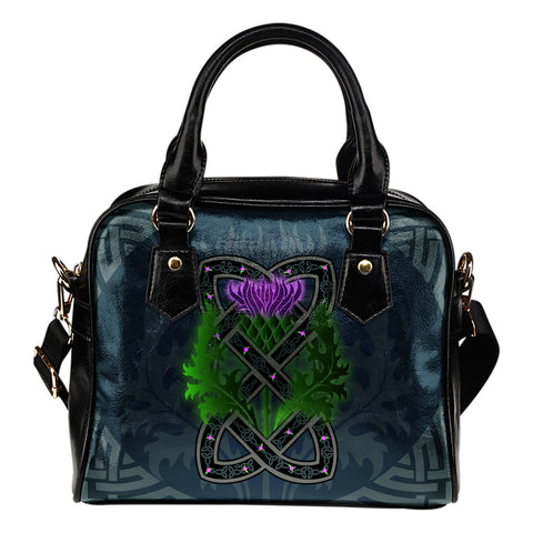 Celtic Myth Thistle Shoulder Handbag | Special Custom Design