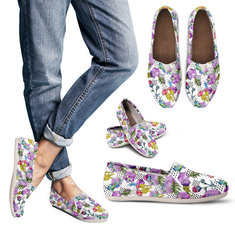Thistle Pattern 04 - Women's Casual Shoes | HOT SALE