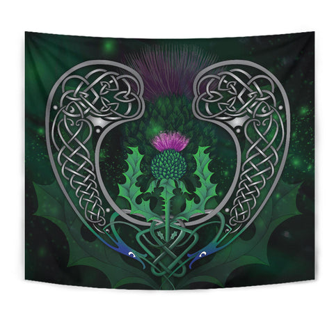 Scotland Tapestry - Celtic Thistle Green | Love Scotland