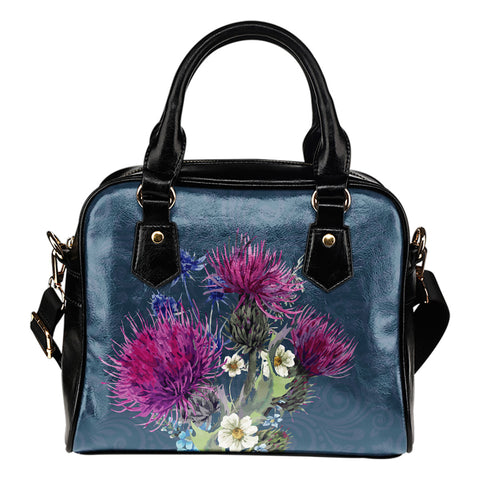 Image of Thistle Flower - Shoulder Handbag | Special Custom Design