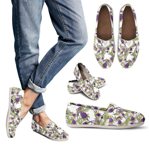 Thistle Pattern 08 - Women's Casual Shoes | HOT SALE