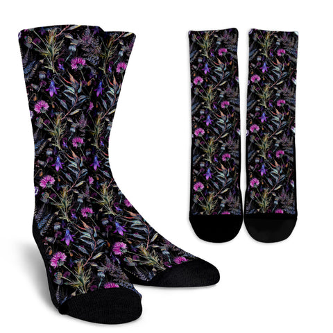 Dark Thistle Crew Socks | HOT Sale