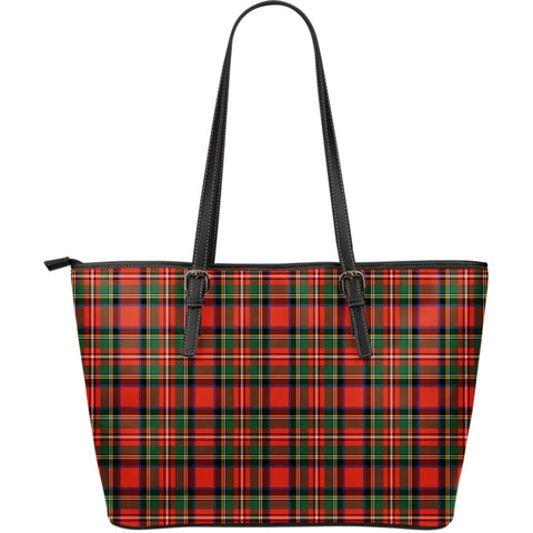 Tartan Large Leather Tote Bag |Hot Sale| 1stscotland