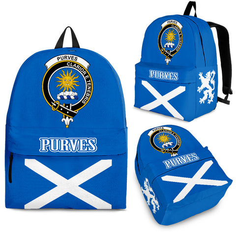 Purves Crest Backpack Scottish Flag A7