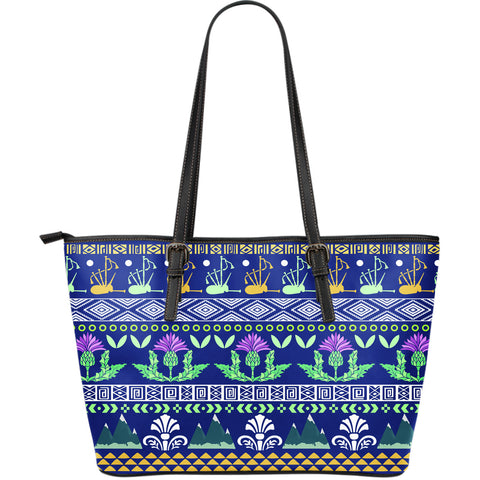Image of Thistle Pattern - Leather Tote Bag | Hot sale