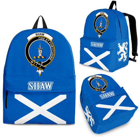 Shaw (of Tordarroch) Crest Backpack Scottish Flag A7