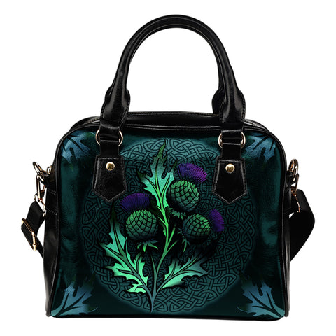 Beautiful Thistle and Celtic - Scotland Shoulder Handbag | Love Scotland