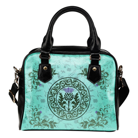 Green Thistle - Scotland Shoulder Handbag | Special Custom Design