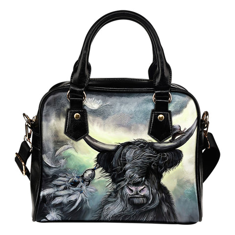Scottish Highland Cow - Shoulder Handbag | Special Custom Design