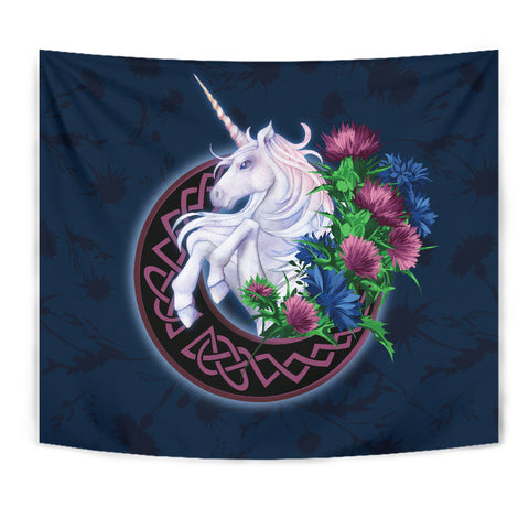Scotland Tapestry Unique - Unicorn Thistle And Moon Celtic