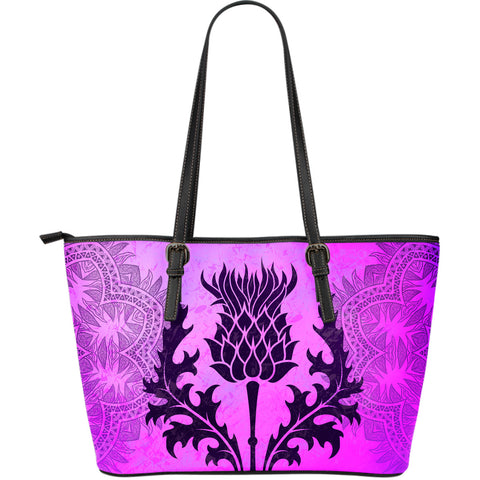 Image of Thistle Leather Tote Bag | Women | Love Scotland