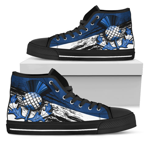 Image of Scottish Thistle Blue Edition High Top Shoes