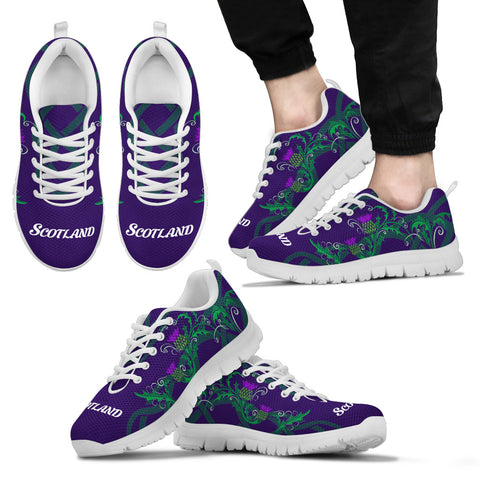 Thistle Flower Couple - Scotland Sneakers | Love Scotland