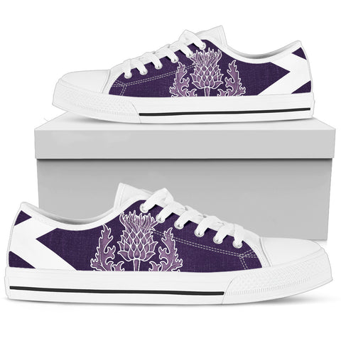 Image of Purple Thistle - Scotland Low Top Canvas Shoes | Special Custom Design