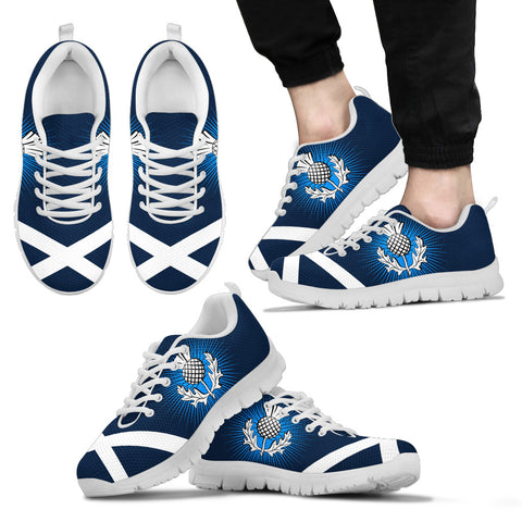Retro Thistle Saltire Men/Women/Kid Sneaker | Love Scotland