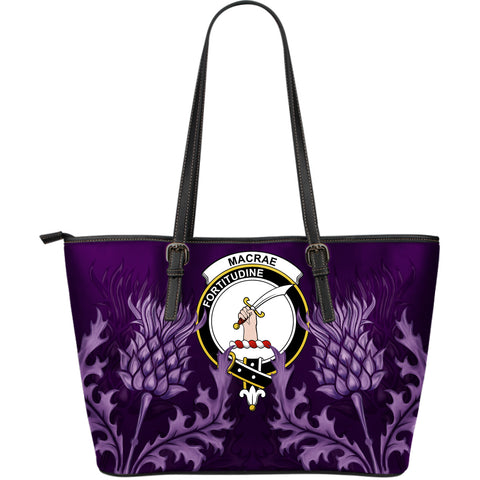 MacRae Leather Tote Bag - Scottish Thistle (Large Size) A7