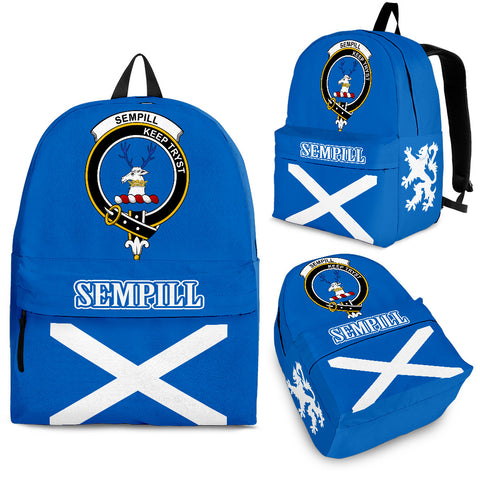 Sempill (or Semple) Crest Backpack Scottish Flag A7