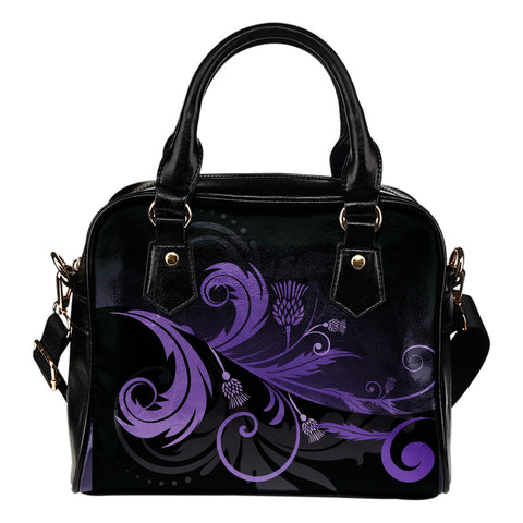 Purple Thistle Light Shoulder Handbag |Hot Sale| 1stscotland