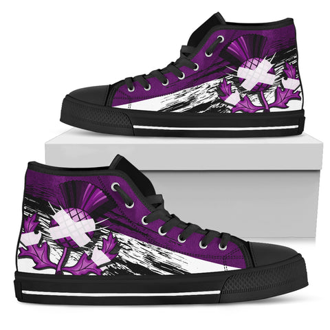 Scottish Thistle Purple Edition High Top Shoes