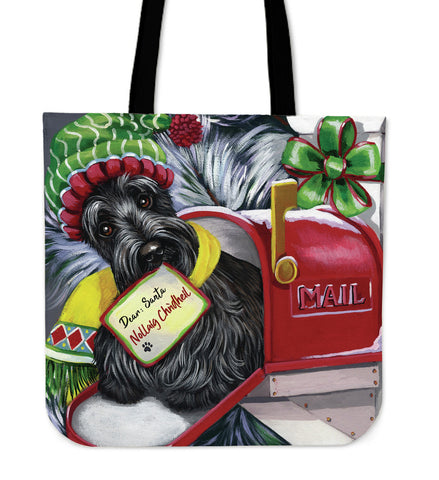 Christmas Scottie Letter For Santa - Tote Bag | HOT SALE