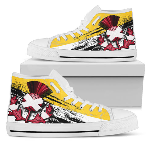 Scottish Thistle Royal Edition High Top Shoes